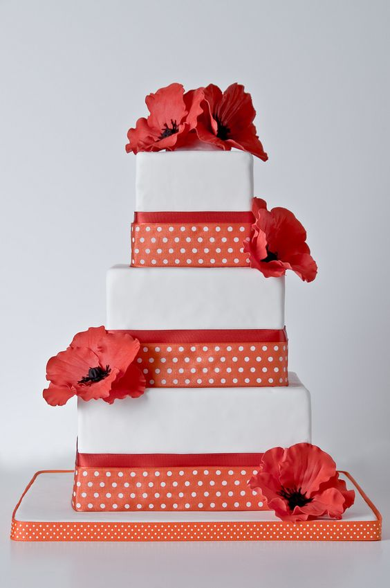 red poppy wedding cake | Flickr - Photo Sharing!