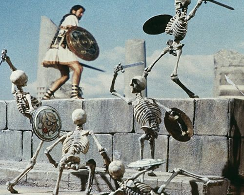 Jason And The Argonauts (1963) - the skeletons are clearly trying to hack off Jason's ghastly ponytail.