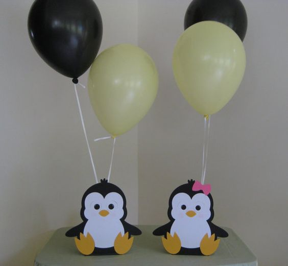 2 Penguin Birthday Party Centerpiece Balloon by Hope2Create, $7.00