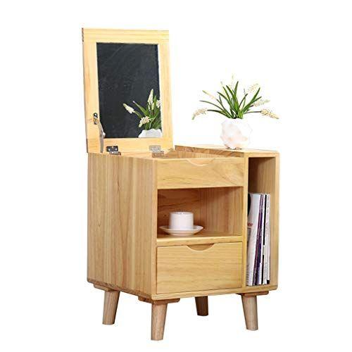 Nightstands Bedside Table Makeup Cabinet Multifunctional Storage