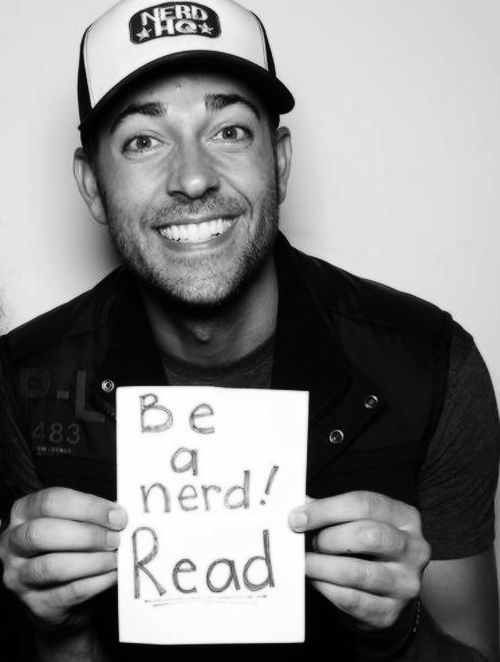 Zachary Levi-im gna pin this to my disney board because its basically Eugene Fitzgeherbert telling you to read cuz he loved reading the tales of Flynn Rider so yeah..