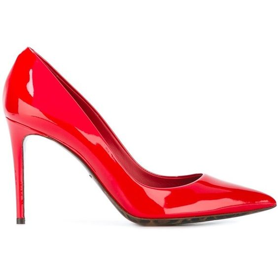 Dolce & Gabbana 'Kate' pumps (42.245 RUB) ❤ liked on Polyvore featuring shoes, pumps, red, red leather pumps, red pointed toe pumps, red pumps, red stiletto pumps and red shoes