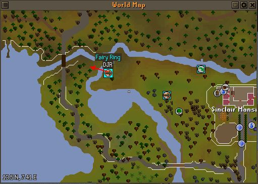 Move fairy ring DJR to the other side of the river RuneSwap OSRS - new osrs world map in game