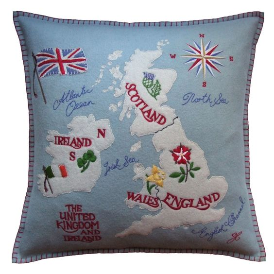 jan constantine british isles cushion wool