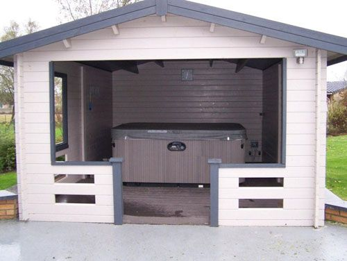 Gazebo and spas on pinterest - Jacuzzi pour jardin ...