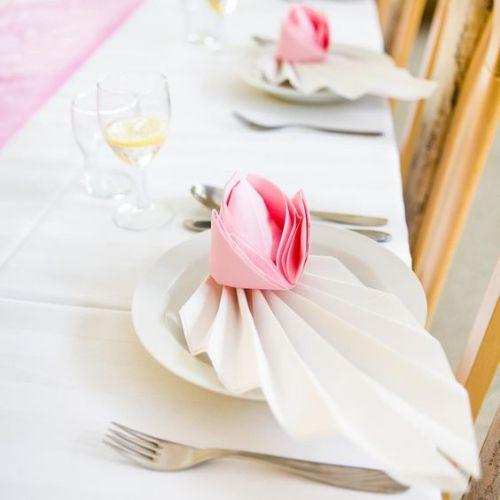 Pliage Serviette Mariage éventail Et Rose Creative