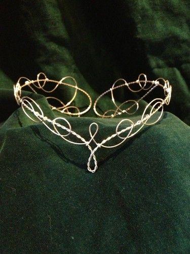 Handmade Celtic Elven Pagan Medieval Renaissance Handfasting Circlet Tiara Crown