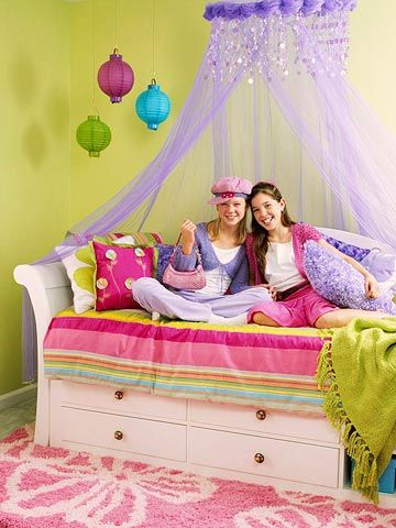 exciting teen girl bedroom green | Teen Bedroom Decorating: 5 Quick Tricks | Lime green ...
