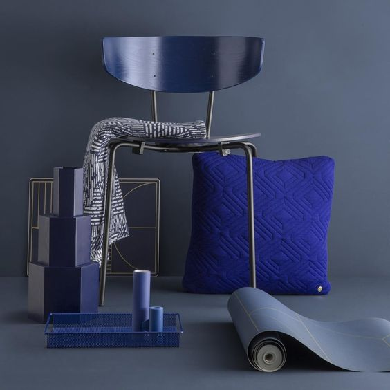 Ferm living blue, furniture, terrazo, scandinavian design