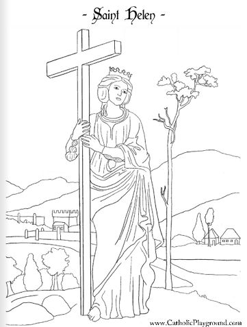 Saint Monica Catholic coloring page for kids to color