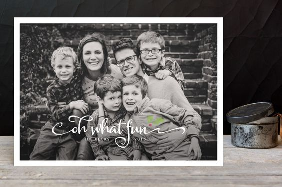 Merry Holly Christmas Photo Cards by Fig and Cotton at minted.com