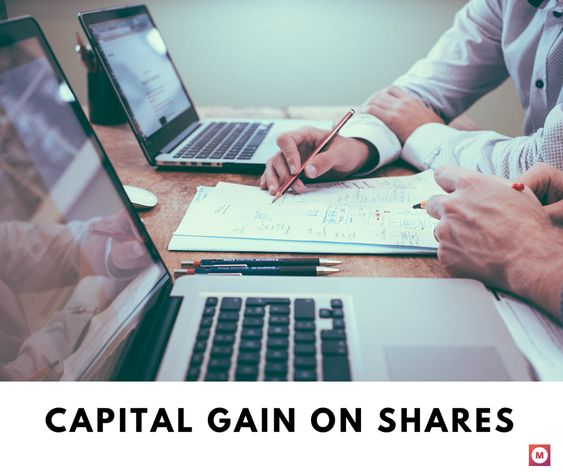 capital gain on shares