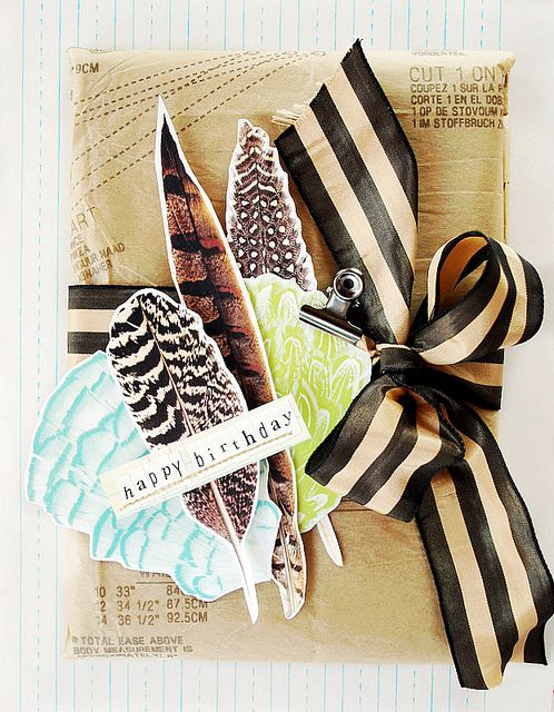 love the idea of print out feathers: