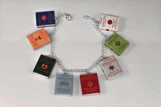 Outlander Series Miniature Book Bracelet by LittleLiterature