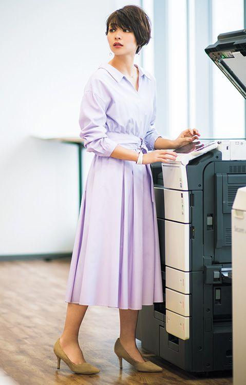 小さめ女子のシャツワンピ着こなし術 スタイルupが叶うおすすめ通勤ブランド2選 韓国スタイル スタイル ファッション