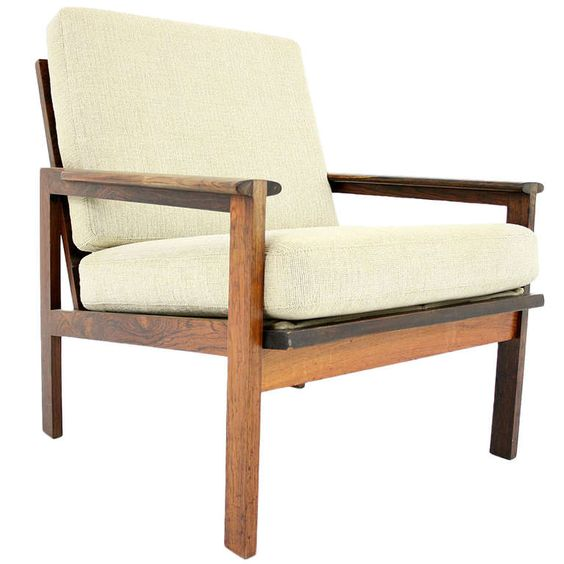 Rosewood Arm Chair by Illum Wikkelso 300-MD8   From a unique collection of antique and modern armchairs at http://www.1stdibs.com/furniture/seating/armchairs/