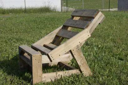Pallet Garden chair made in 1h30min
