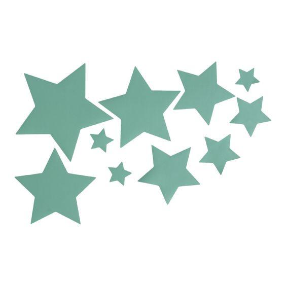 sterren in mintgroen ster mint decoratie kinderkamer babykamer ...
