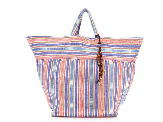 Molly Sims Striped Beach Bag
