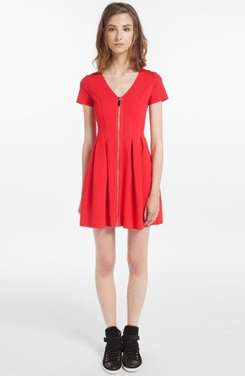 maje 'Datypic' Stretch Fit & Flare Dress available at #Nordstrom