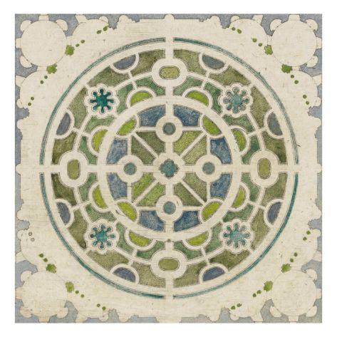 Modèle de parterre de jardin circulaire Giclee Print