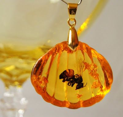 A honey bee cast in amber resin. Not really a craft but so cute!
