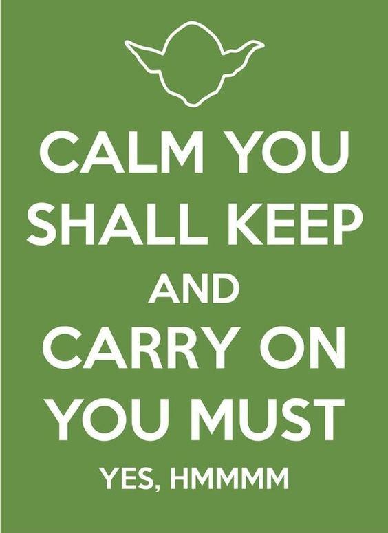 Keep calm yoga style: Yoda Speak, Star Wars, Master Yoda, Funny Stuff, Calm Yoda, Keep Calm, Yoda Wisdom, Wise Words