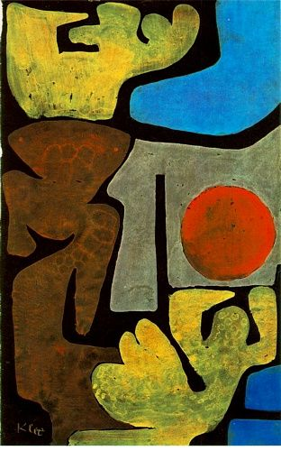 Paul Klee (1879-1940) was born in Münchenbuchsee, Switzerland, and is considered both a German and a Swiss painter. His highly individual style was influenced by movements in art that included expressionism, cubism, and surrealism. He was also a student of orientalism. Klee was a natural draftsman who experimented with and eventually mastered color theory.