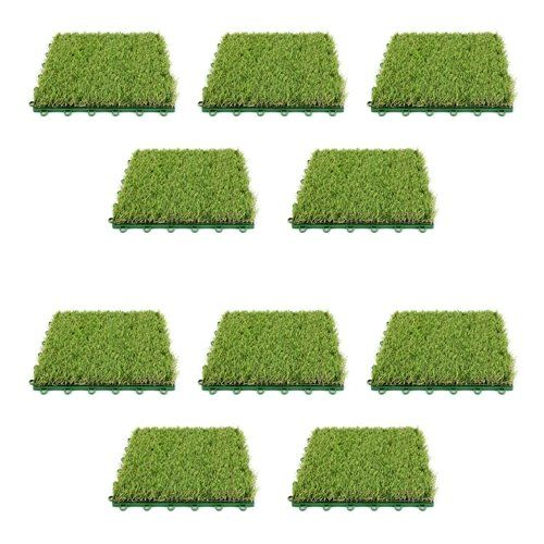 Artificial Grass 12 X 12 Plastic Interlocking Deck Tile In Green Deck Tiles Artificial Lawn Artificial Turf