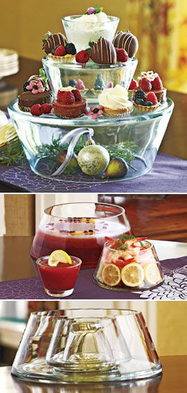 3-Tier Server, 3-Tier Glass Bowl Servers, Stacking Glass Bowls | Solutions