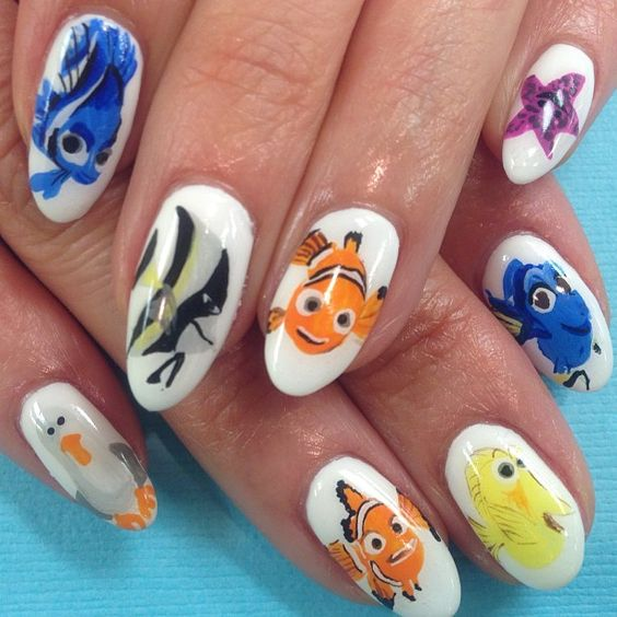 Finding nemo nails pinterest finding nemo finding nemo nails pinterest finding nemo disney nails and disney nails art prinsesfo Gallery