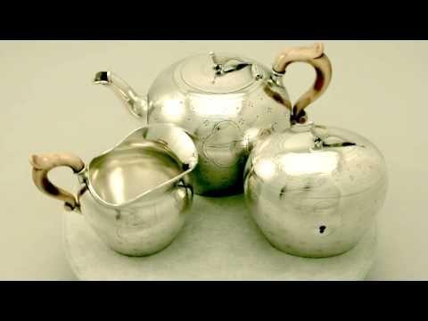 Video ... Five Piece Silver Tea Service - Austro-Hungarian - Antique Circa 1869 - AC Silver W5449 via YouTube   http://www.acsilver.co.uk/shop/pc/Austro-Hungarian-Five-Piece-Silver-Tea-Service-Antique-Circa-1869-97p4012.htm
