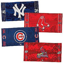 Take your favorite team to the beach, pool or bath! Terry towels in are printed with the colors and logos you love to cheer for. Now $16.97