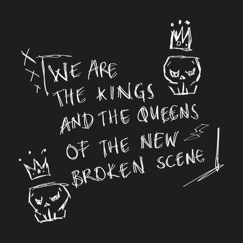 """Love this 5SOS lyric   """"We are the kings and queens of the new broken scene""""  // SHES KINDA HOT"""