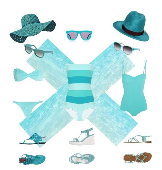 Blue Waters by sheri-gifford-pauline on Polyvore featuring polyvore, fashion, style, Roksanda Ilincic, Dolce&Gabbana, Lisa Marie Fernandez, Ruco Line, Cesare Paciotti, Lola Cruz, Dsquared2, Karen Walker, Ray-Ban, Armani Exchange and clothing