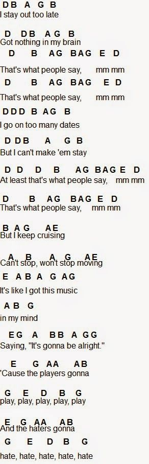 Flute Sheet Music: Shake It Off Click the link below the pic to get the rest of it
