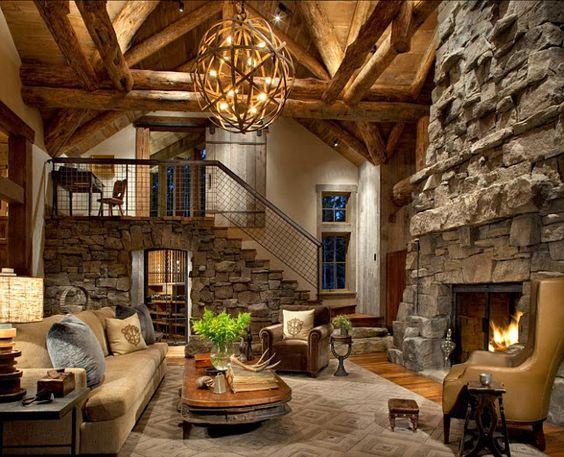 Jurnal de design interior - Amenajări interioare : Cabană de 350 m² din Montana, SUA
