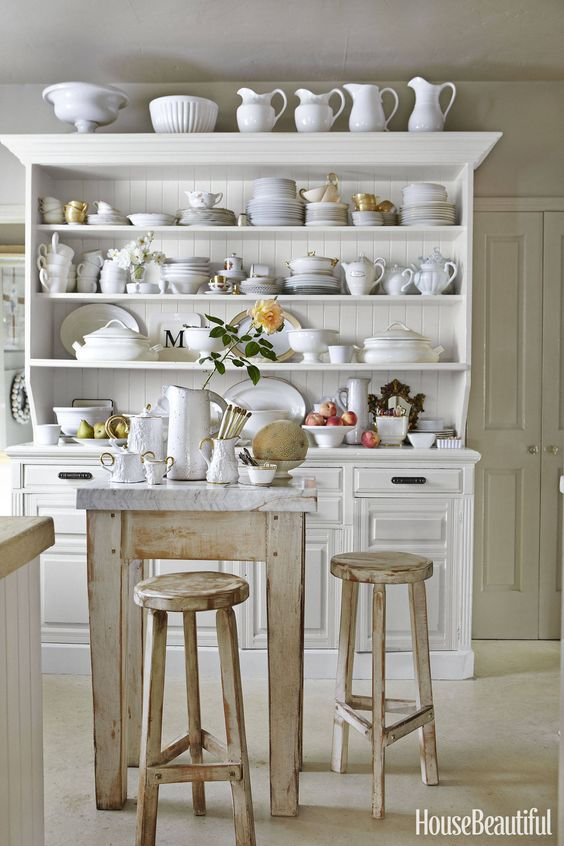open shelving chic dishes beaches shelving house kitchens display