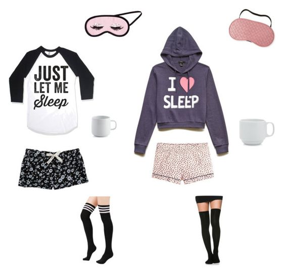 """""""Sleep over"""" by msarayha ❤ liked on Polyvore featuring interior, interiors, interior design, home, home decor, interior decorating, H&M, Calvin Klein, Forever 21 and J.Crew"""