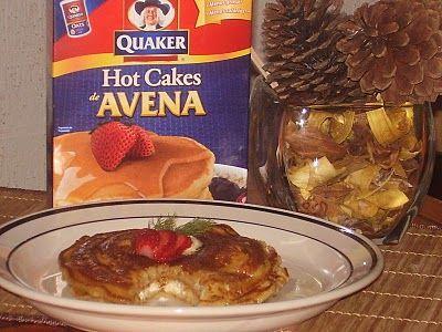 Hot Cakes de Avena con Queso