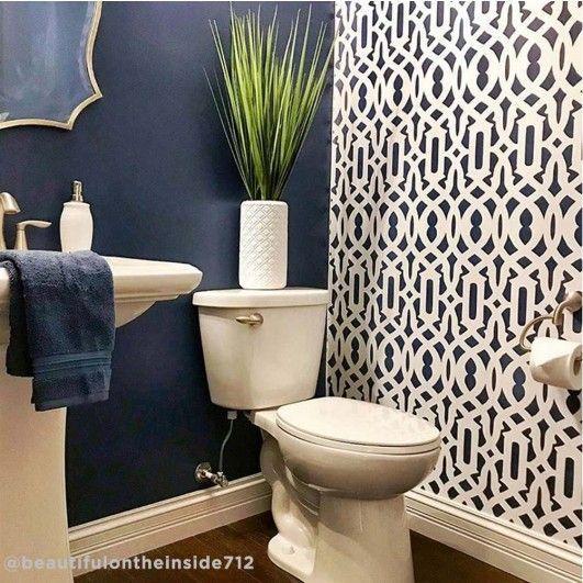 Trellis Allover Stencil Bedroom Wallpaper Accent Wall Wallpaper Accent Wall Bathroom Bathroom Accent Wall