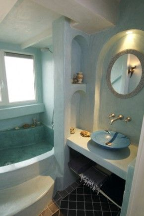 Tadelakt bathroom tadelakt moroccian nearly waterproof for Tadelakt bathroom ideas