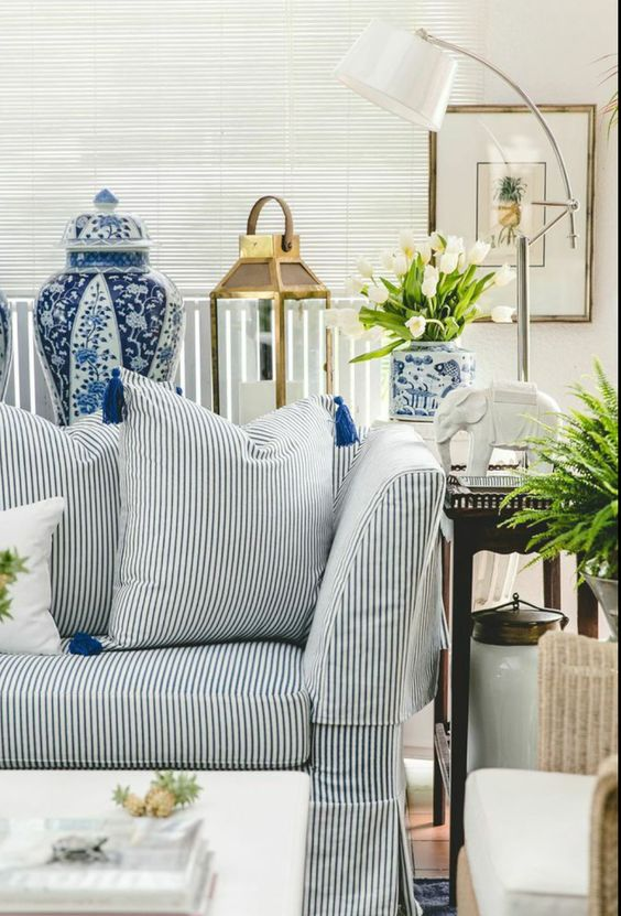 Check out to blog to find out my tips for decorating with blue and white ceramics.