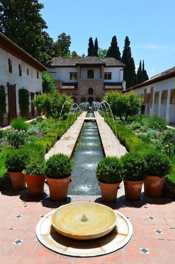 UNESCO World Heritage Site - Patio de la Sultana, Alhambra, Grenada, Spain: