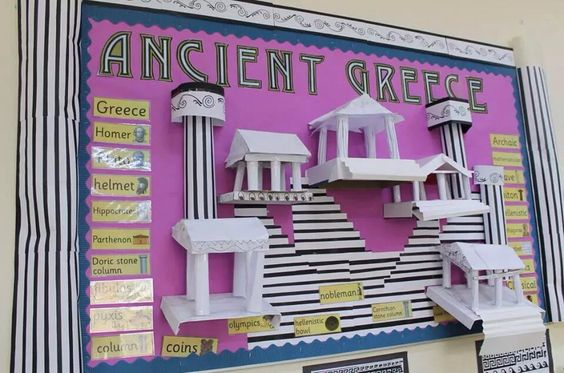 Ancient Greece display from Leanne Cooper