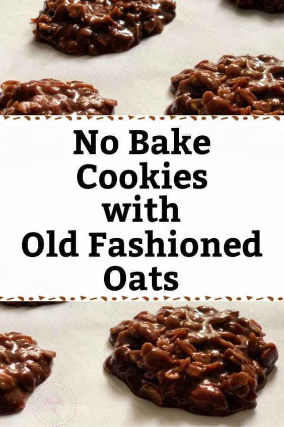 No Bake Cookies with Old Fashioned Oats