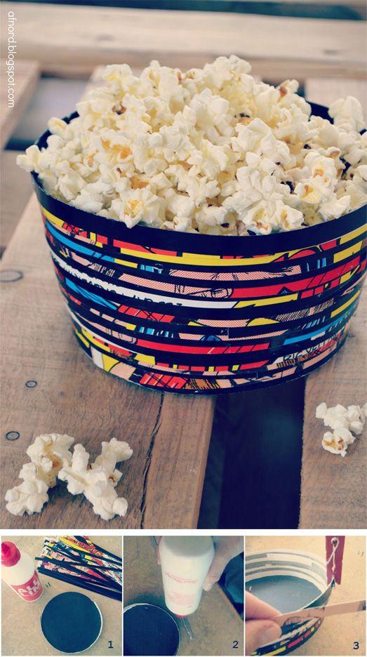 Paperbowl made of an LP cover. for description please visit http://afnord.blogspot.com