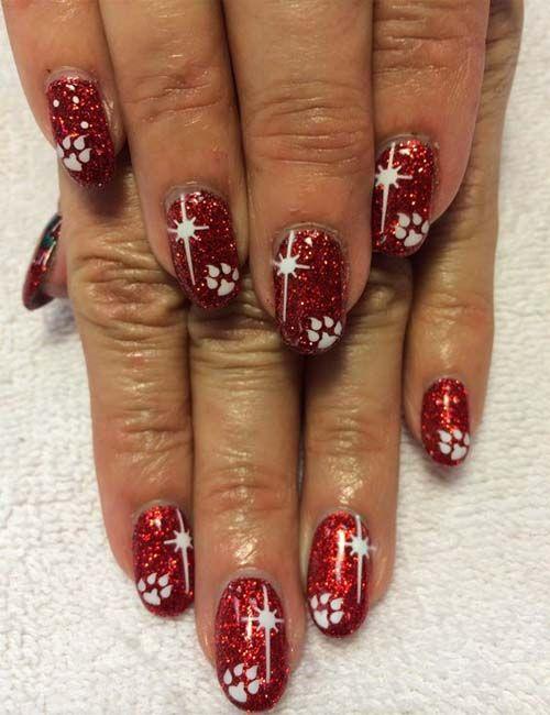 Christmas nail art 2018