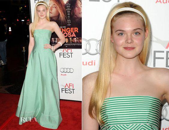 Elle Fanning In Oscar de la Renta - 'Ginger And Rosa' AFI Fest Premiere