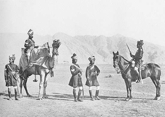 5th Bombay Cavalry (Sind Horse) c1895. From Fred Bremner's Types of the Indian Army (1895)